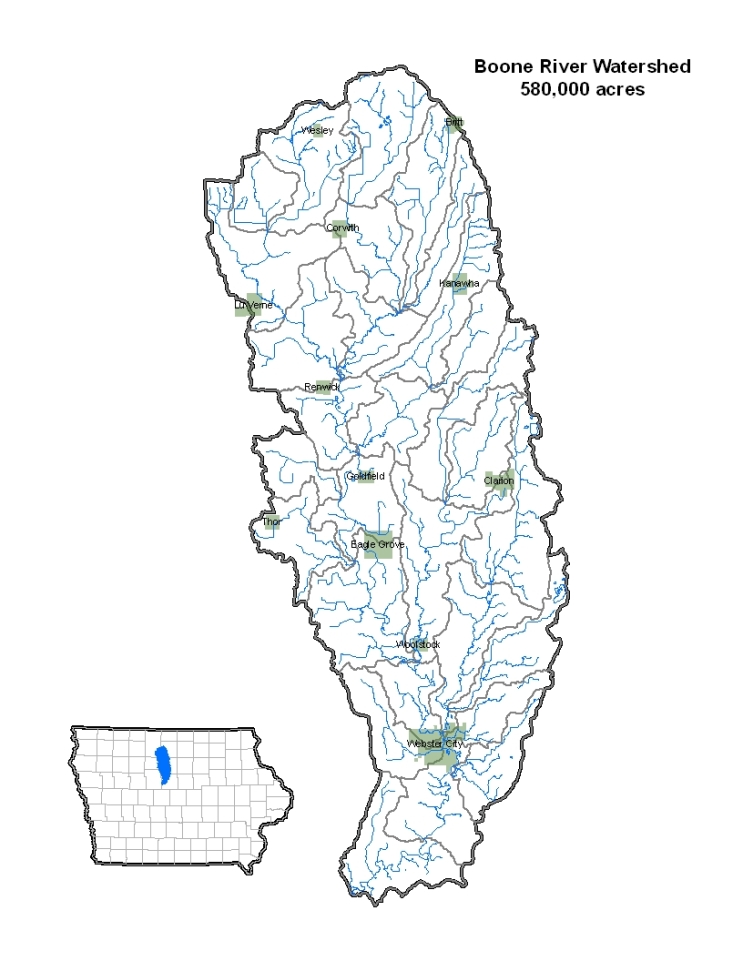 Boone River Watershed Map